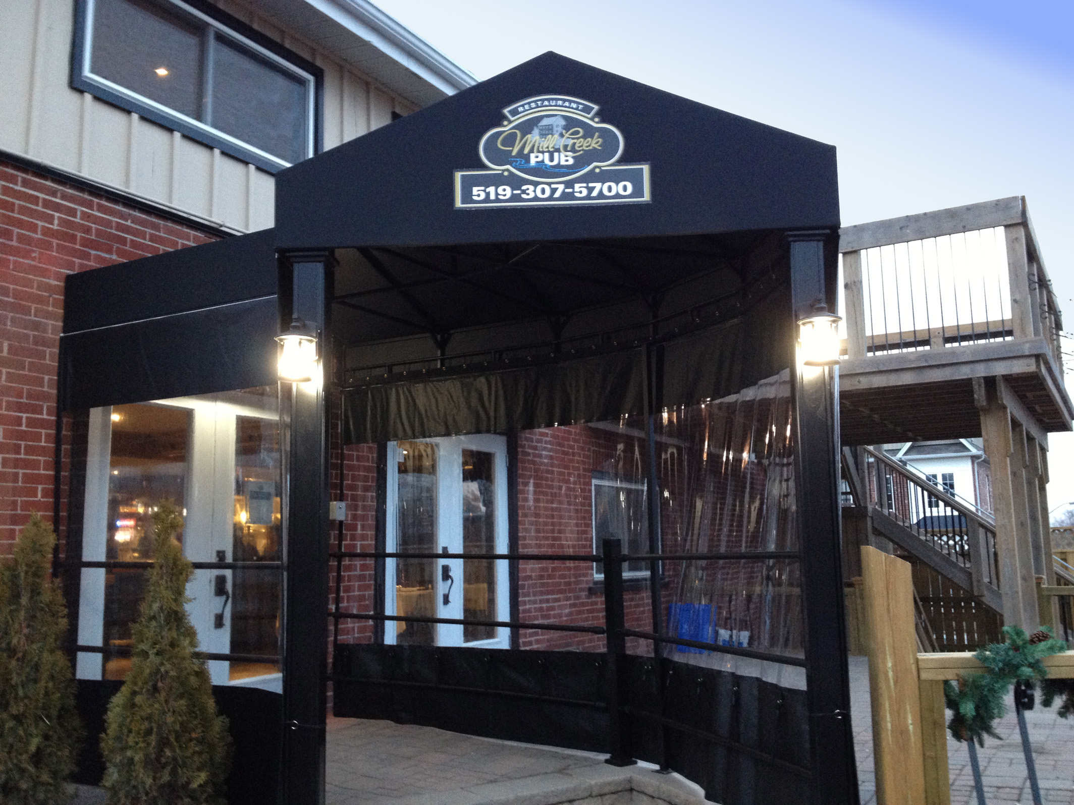Omnimark Awnings - Gable Style Entrance Canopy